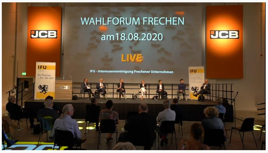 IFU-Podiumsdiskussion: Bürgermeister-Kandidaten stellen sich vor